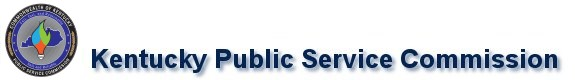 KY seal and title KY Public Service Commision
